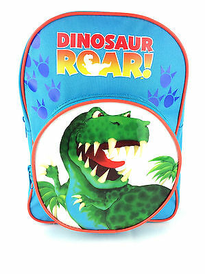 Dinosaur Roar Kids Boys Nursery School Backpack Rucksack Bag New