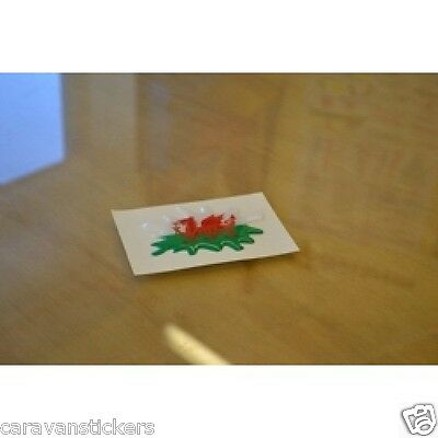 Welsh Flag Resin Domed Blob Sticker Decal Graphic- PAIR
