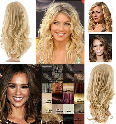 New Womens Half Head Curly Wavy Soft Hair Wig Koko Uk Lily G018 15 Colours