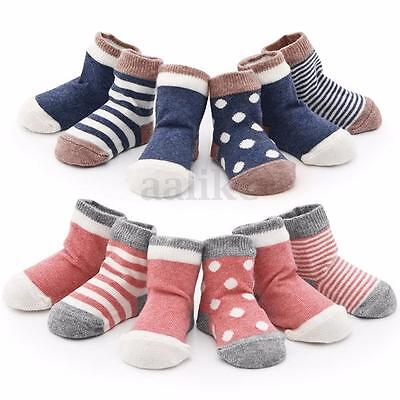 4 Pairs Newborn Infant Baby Toddler Boys Girls Cotton Ankle Socks 0 - 3 Years