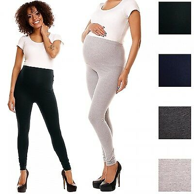 Happy Mama. Women's Maternity Stretchy Leggings Over-the-Bump Waistband. 775p