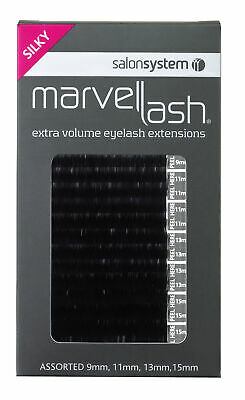Salon System Lash Extensions SILKY 0.20 Assorted Black (2,960) False Lashes