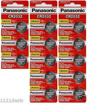 13 x SUPER FRESH Panasonic ECR2032 CR2032 Lithium Battery 3V Coin Cell Exp. 2028