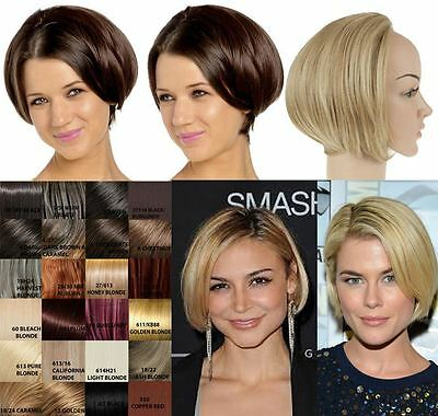 Womens Short Straight Bob Posh Half Head Wig Soft Hair Koko Uk 16 Colours