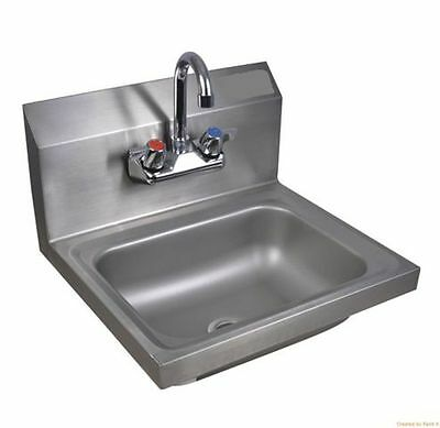 COMMERCIAL KITCHEN wallsink 10X14 with faucet and drain