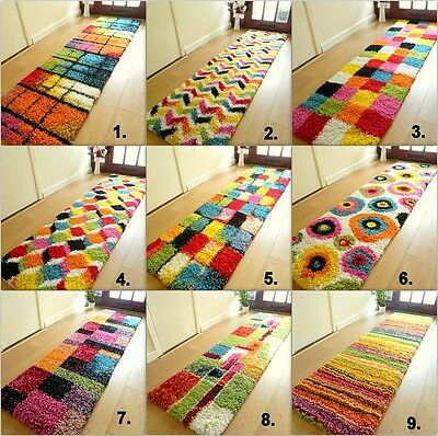 Small Extra Large Rug New Modern Soft Thick Shaggy Non Shed Colourful Runners