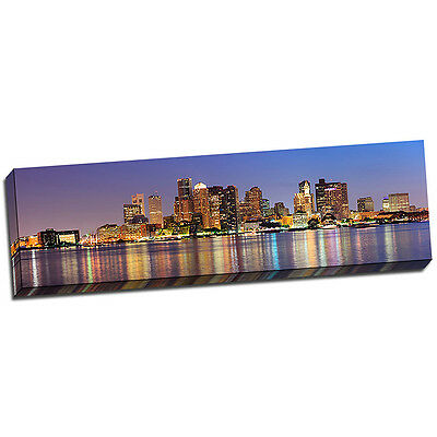 Boston Landscape Wall Art on Wrapped Canvas Framed and Ready to Hang