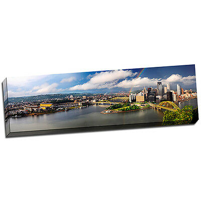 Pittsburgh Landscape Wall Art on Wrapped Canvas Framed and Ready to Hang