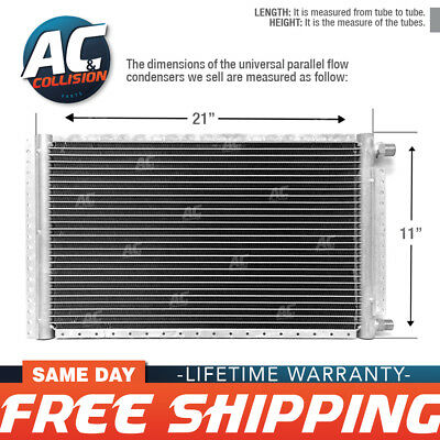 CNFP1121 AC A/C Universal Condenser Parallel Flow 11 x 21 O-ring #6 & #8
