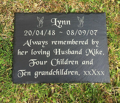 Personalised Engraved Natural Slate Stone Memorial Headstone Grave Marker Plaque