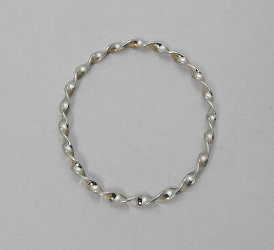 """Solid Sterling Silver Oval Bezel Twisted Wire 1-1/2"""" x 1-1/4"""" For Cameo or Stone"""