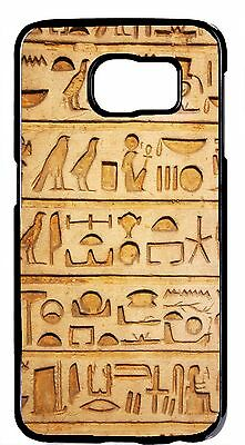 New Egyptian Hieroglyphics Papyrus Hard Case Cover For Samsung Galaxy S6 S7 Edge