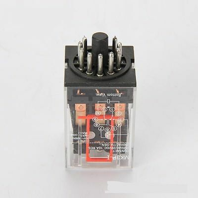 (1 PC) 10A Omron MK3P-I Cube Relays 12V/AC Coil with PF113A Socket Base