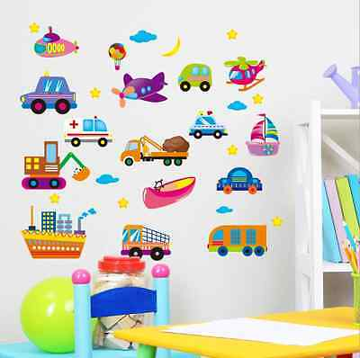 New Cartoon Car Removable Wall Stickers For Kids Rooms Decor YXH31