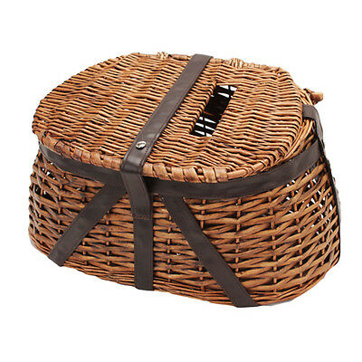 Rivers Edge Products Wicker & Faux Leather Fishing Creel