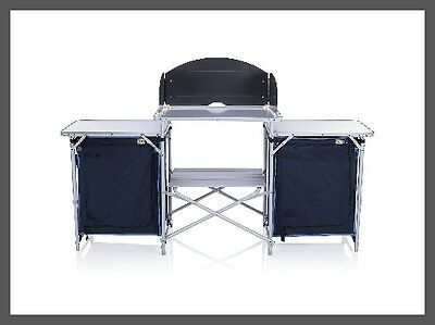 Camping Kitchen Multifunctional Storage Space Cooker Table with Wind Shield