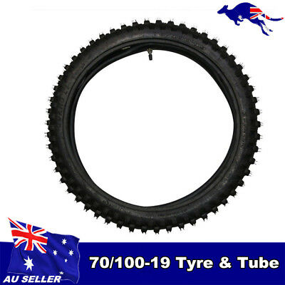 19 inch front knobby tyre and tube, BIGFOOT Pit/Trail/Dirt Bike 70/100-19 19""