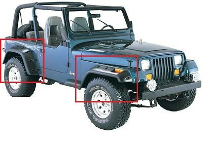 JEEP WRANGLER YJ 1987 - 1995 WHEEL ARCH - FENDER FLARES EXTENSIONS NEW 6 pcs