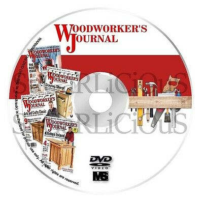 Woodworkers Journal Magazines Projects Plans Over 340 in pdf on dvd