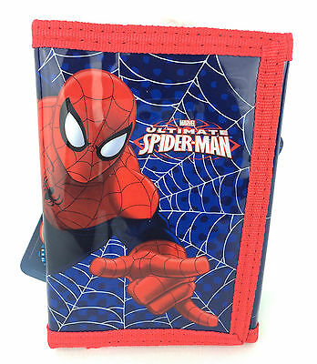 Marvel The Ultimate Spiderman Boys Trifold Money Change Notes Wallet Official