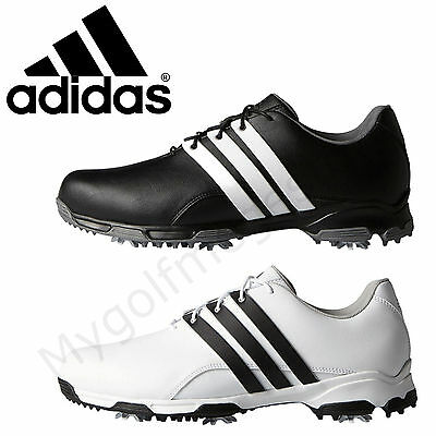 Adidas Golf Mens Pure TRX WD Wide Fit Spiked Waterproof Golf Shoes-New