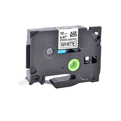 TZ-S TZe-S231 Black on White Strong Tape for Brother P-touch 12mm Label Maker