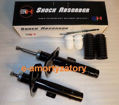 2x Front Shock Absorbers (Pair) PEUGEOT 607 2000-   + Protection Kit  GH
