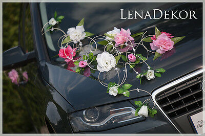 wedding car decoration, ribbon , bows, prom limousine decoration, INA1