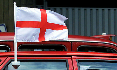 2 x England Car Window Flags St Georges Cross Car England Flag Football 2017