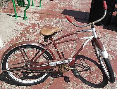 1951 Mercury Bicycle musselman balloon tire murray drop center troxel skip tooth