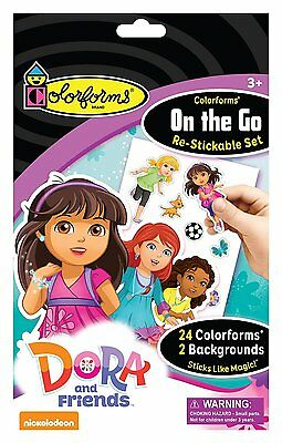 Colorforms Brand Dora and Friends On The Go Restickable Set Free Shipping