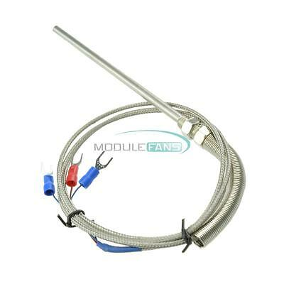 New RTD Pt100 Temperature Sensor 1M Cable Stainless Probe 3 Wires 0°C-150°C