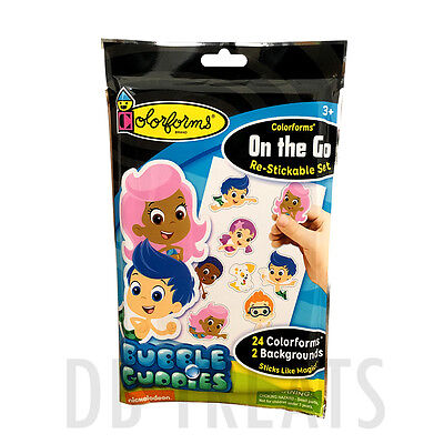Colorforms Brand Bubble Guppies On The Go Restickable Set Free Shipping