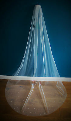 Bridal Veil *Cathedral Length*1 Tier*the falling star*crystal&pearl *Bespoke *