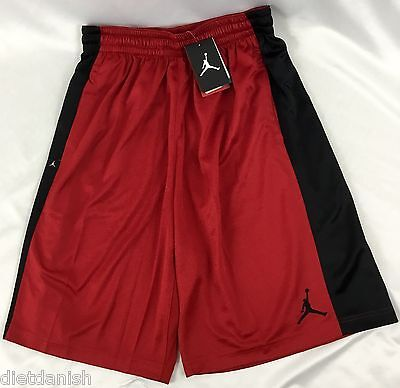 Nike Air Jordan MEN'S Athletic Basketball Loose Shorts Red Black 657722 Size M
