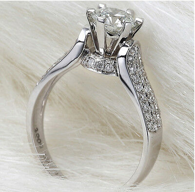 18k White Gold Filled Silver Base 1.25 Carat Wedding Bridal Engagement Ring R33