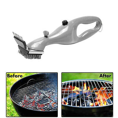 New Stainless Steel Grill Steam Cleaning Tool BBQ Brush Cleaner Barbecue Tool P5