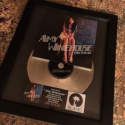Amy Winehouse Back To Black Platinum Record Album Disc Music Award Grammy RIAA