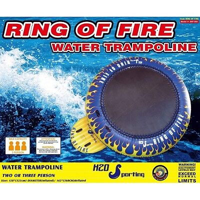 "H2O Sporting Ring of Fire Water Trampoline 10'8"" Bounce Platform Inflatable Safe"
