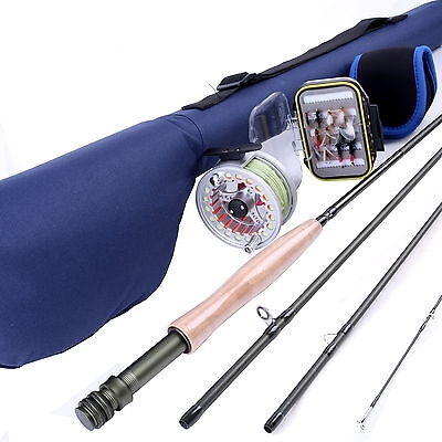 5WT 9FT 4SEC Fly Rod Combo Fly Reel & Fly Box & Flies Fly Fishing Outfit