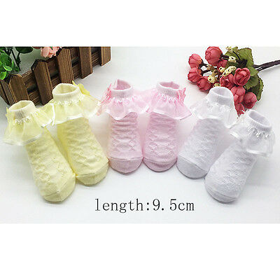Non-Slip Newborn Infant Child Toddler Combed Cotton Lace Princess Socks for Girl