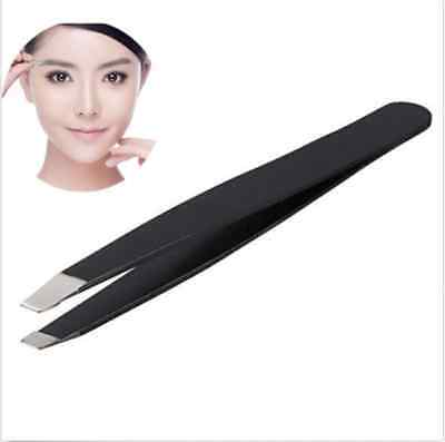 Professional Eyebrow Tweezers Hair Beauty Slanted Stainless Steel Tweezer New