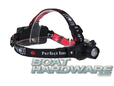 Perfect Image Rechargeable LED Zoom Headlamp Torch Super Bright Cree Safe Light
