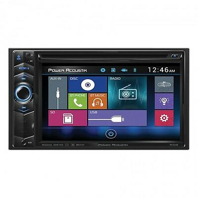 NEW Power Acoustik PD-624B Double 2 DIN CD/DVD/MP3 Player Bluetooth SD USB Input