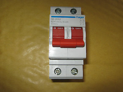 Hager Sb 263U 63 Amp 400V Main Switch Disconnector.(552958)