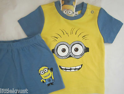 DESPICABLE ME MINIONS Licensed Baby boy 2pc knit pyjamas pajamas pjs NEW sz 0-1