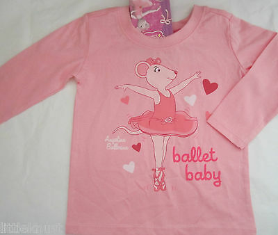 ANGELINA BALLERINA Licensed Baby girl long sleeve tee t shirt top NEW sz 000-2