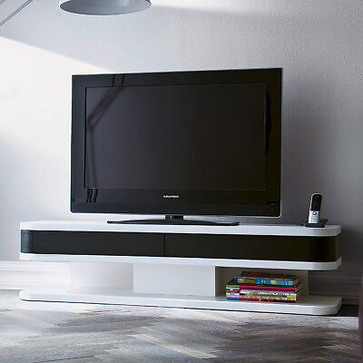 tv board junior l lowboard hifi m bel media element wei schwarz matt lackiert eur 259 95. Black Bedroom Furniture Sets. Home Design Ideas