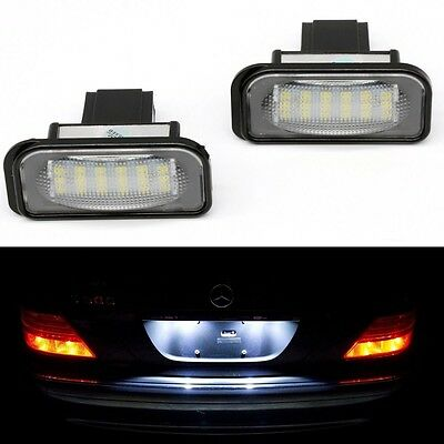 2 x License Number Plate Light Lamp for Benz C E CLS SLK Class W203 W219 W211 UK