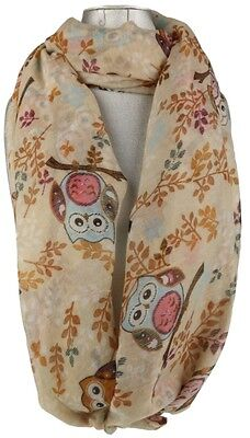 Womens Comic Owls Print Scarf Creative Comical Branch Trees Kids Neck Shawl
